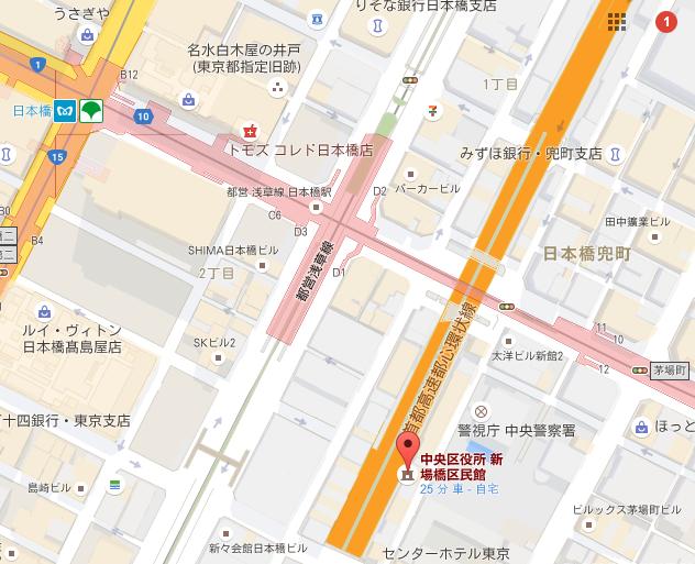新場橋区民館 MAP画像